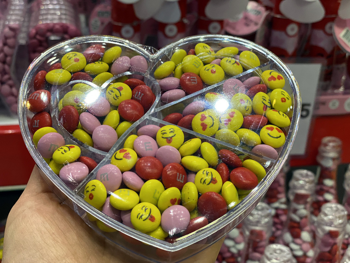 Personalizable M&M's Heartfelt Candy Gift Box