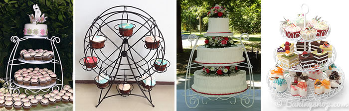 Iron Wire Cake Stands