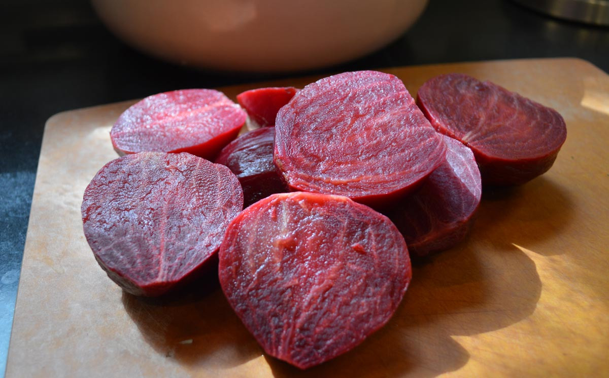 Beets for Cold Borscht Soup