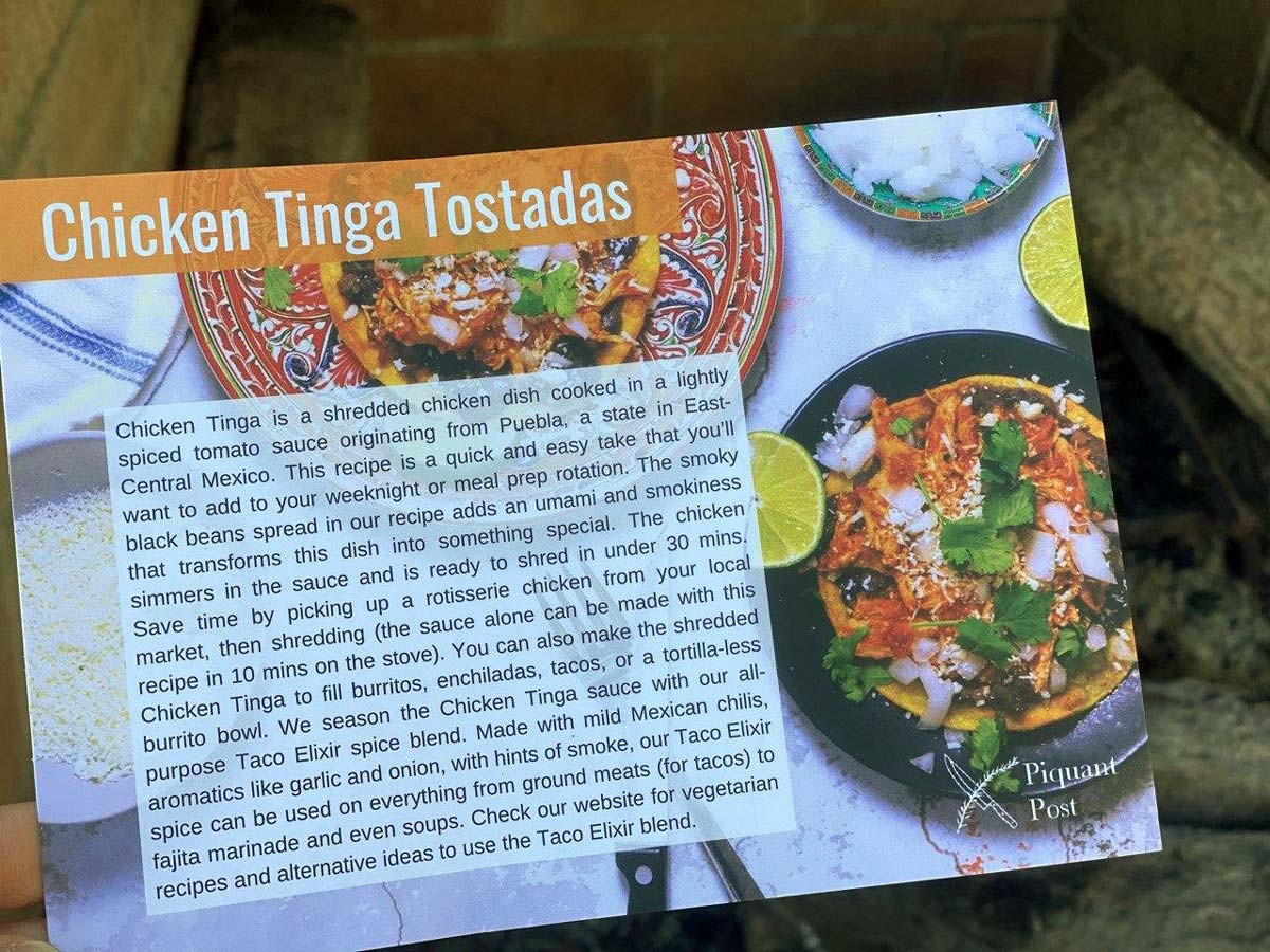 Chicken Tinga Tostadas
