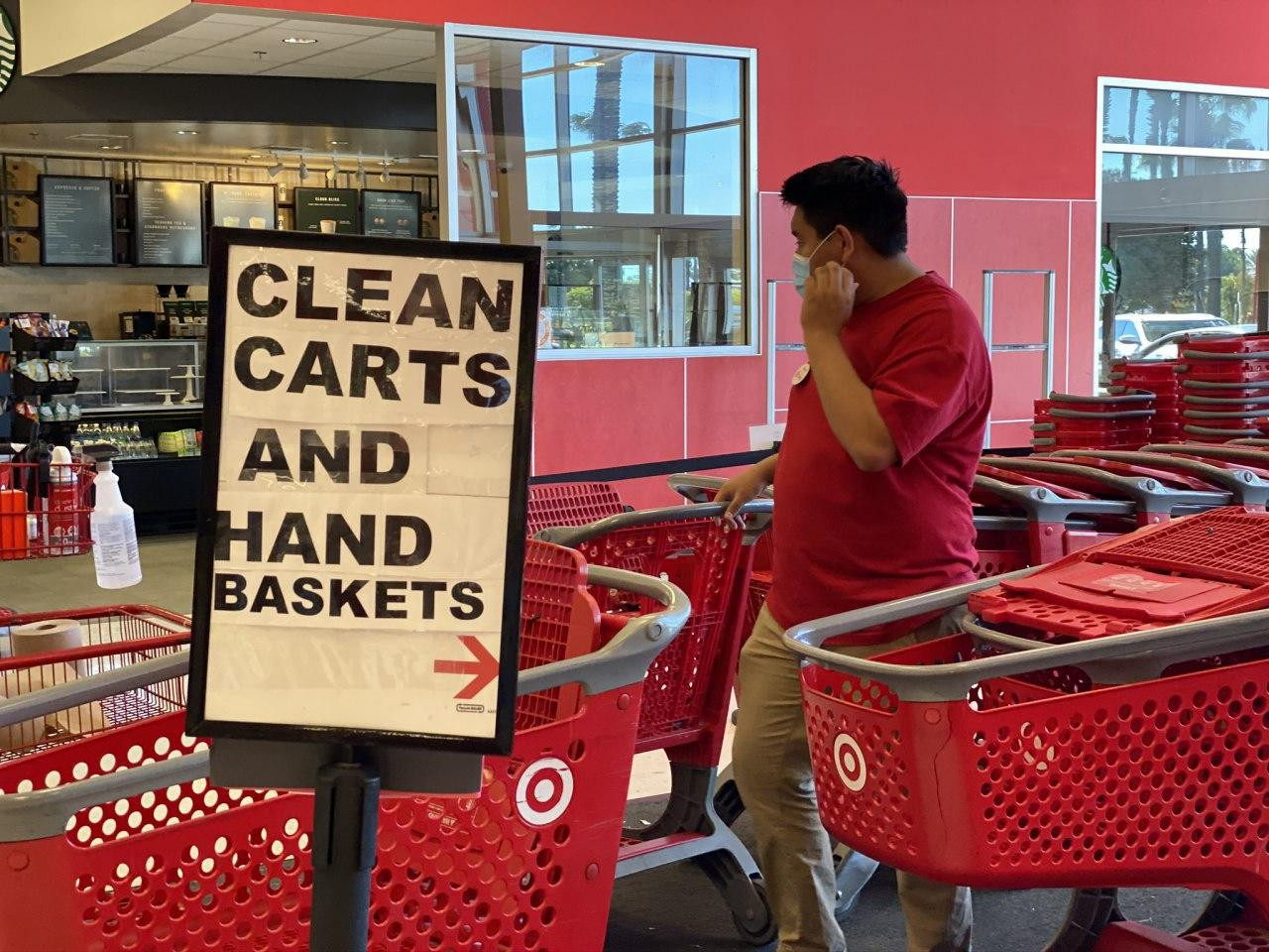 Clean Carts and Hand Baskets