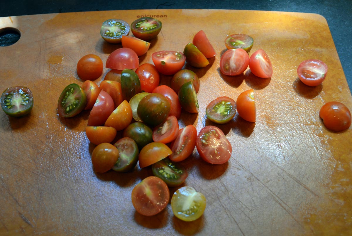 Cut Tomatoes for Thai Curry