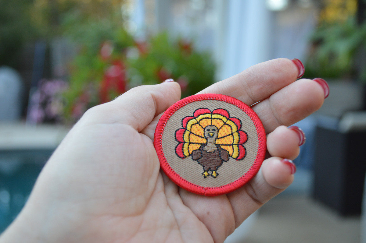 Embroidered Turkey Patch
