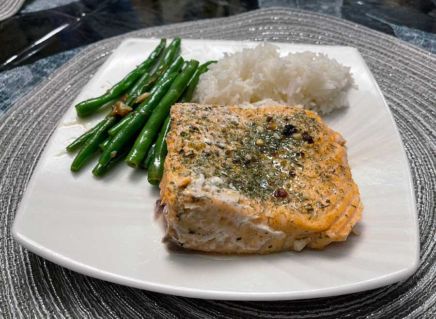 Foil Wrapped Oven Baked Salmon Recipe