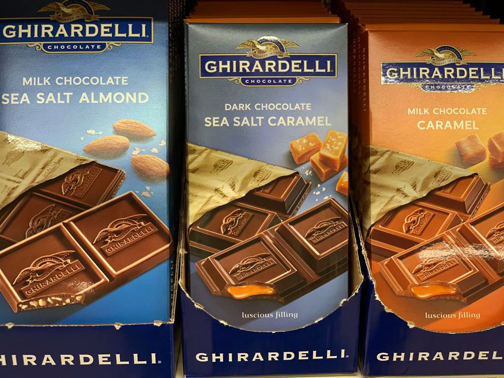 Ghirardelli dark and milk chocolate