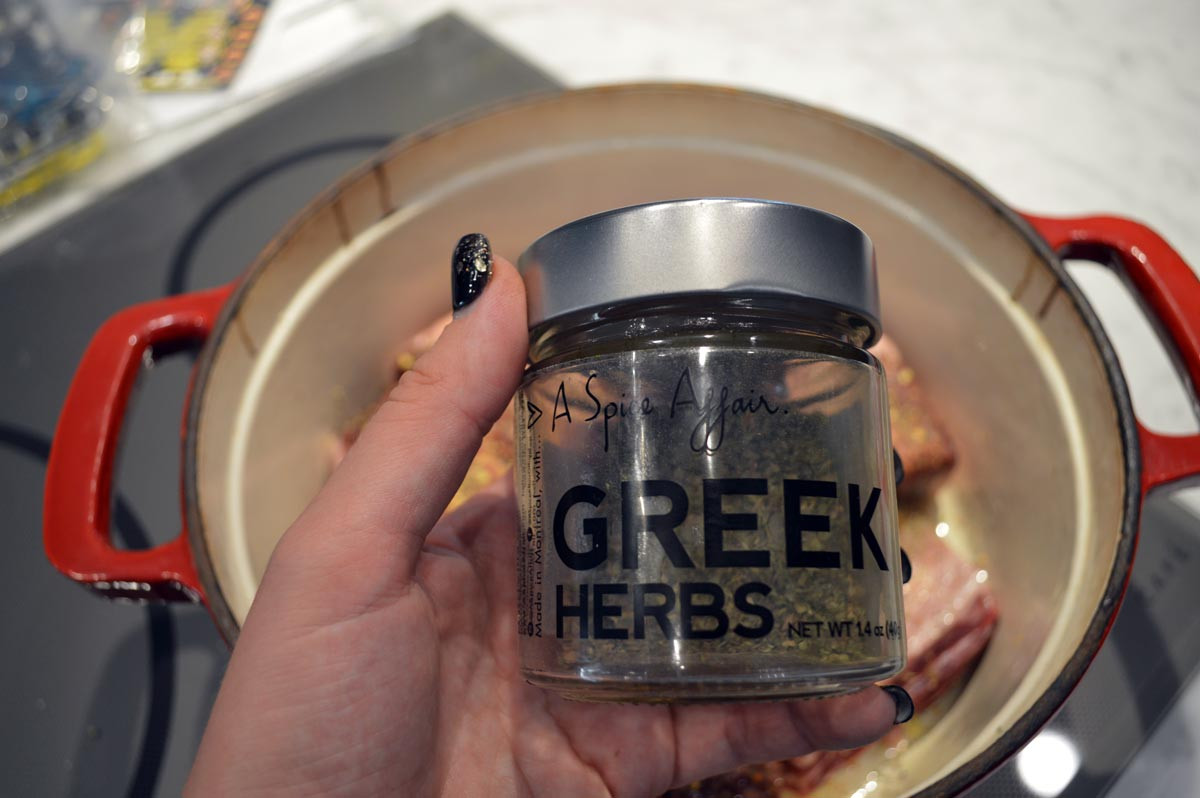 Greek Herbs for Brazed Short Ribs