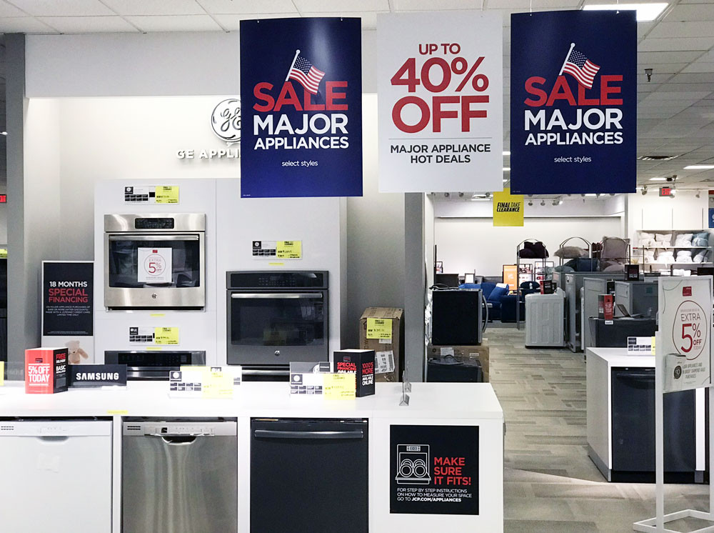 jcpenney major appliances sale