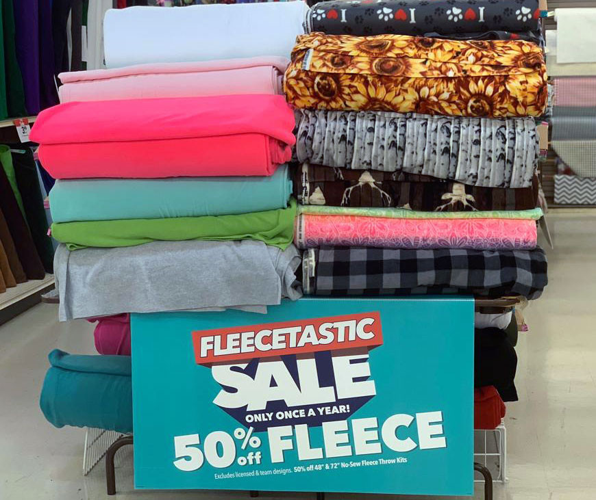 Joann fleecetastic sale