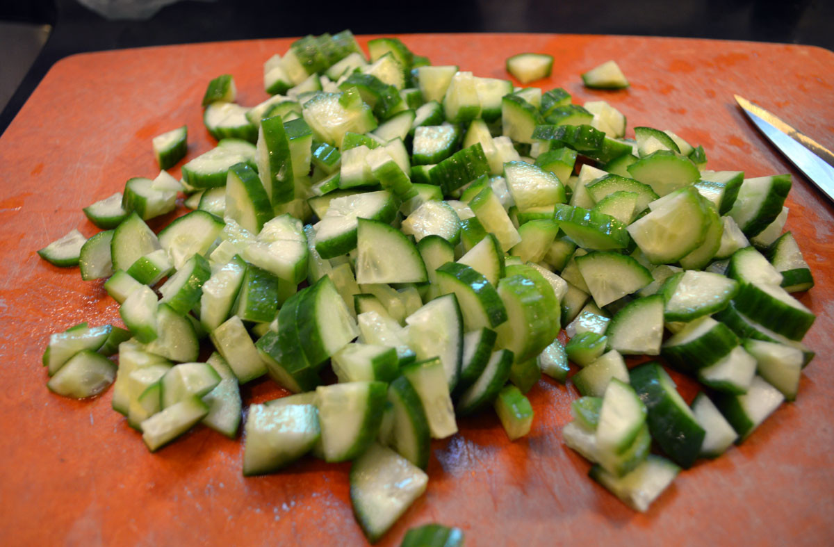 Persian cucumbers for salad