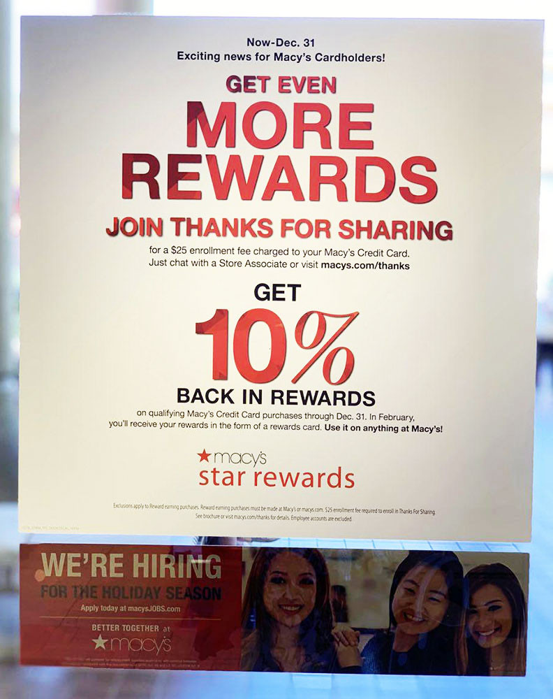 Macy's rewards program