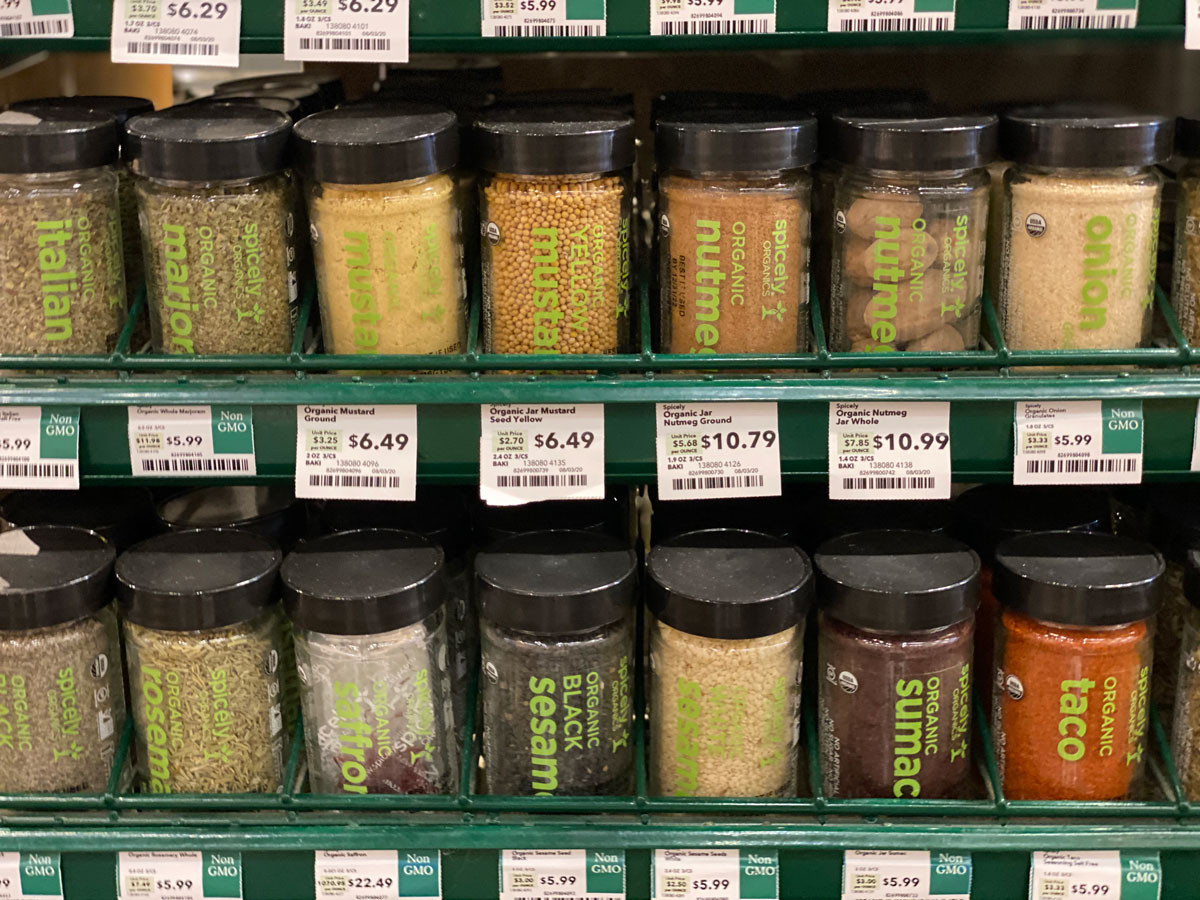 Spices at Whole Foods