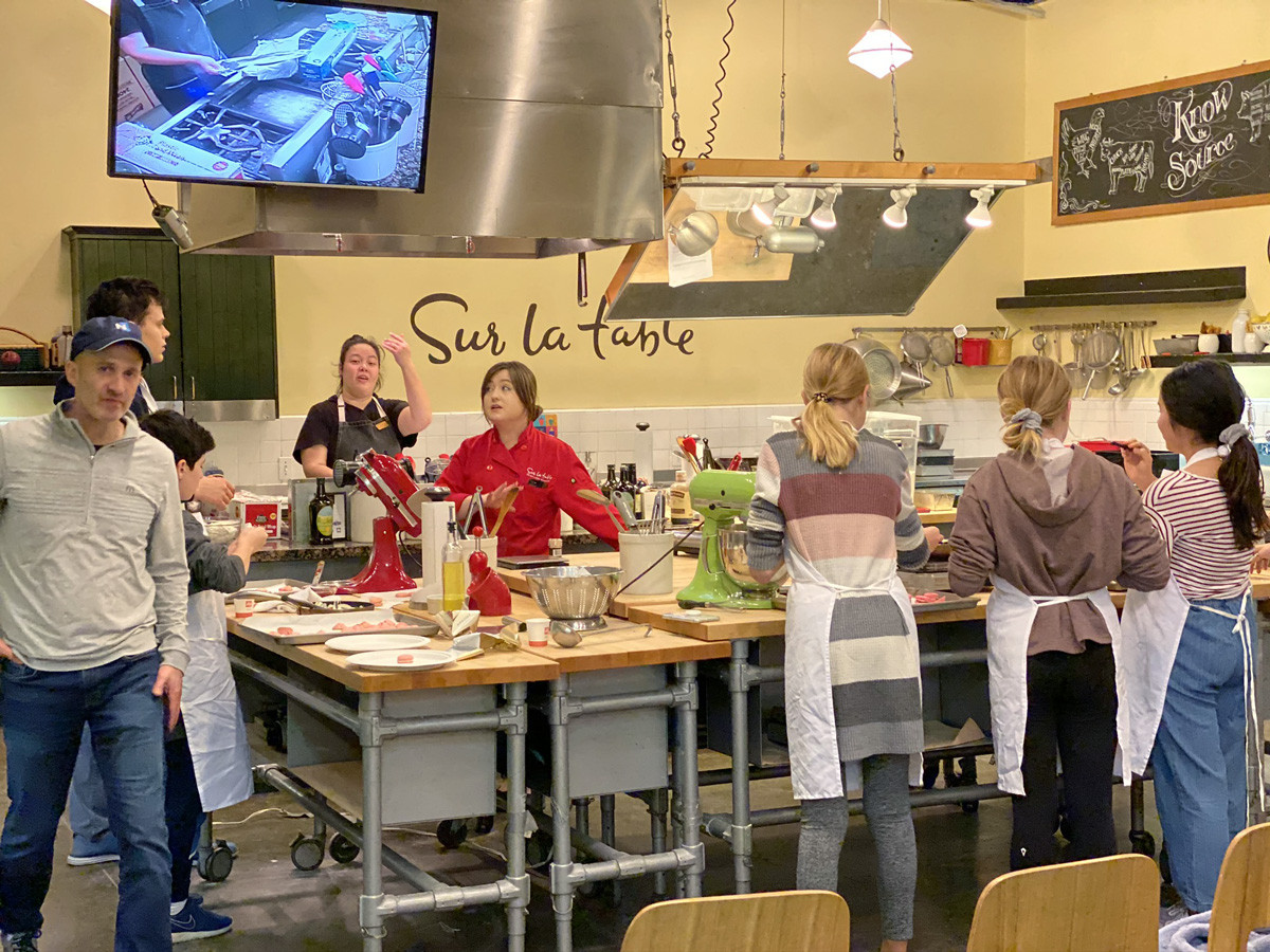 Sur La Table cooking Class for Valentines Day