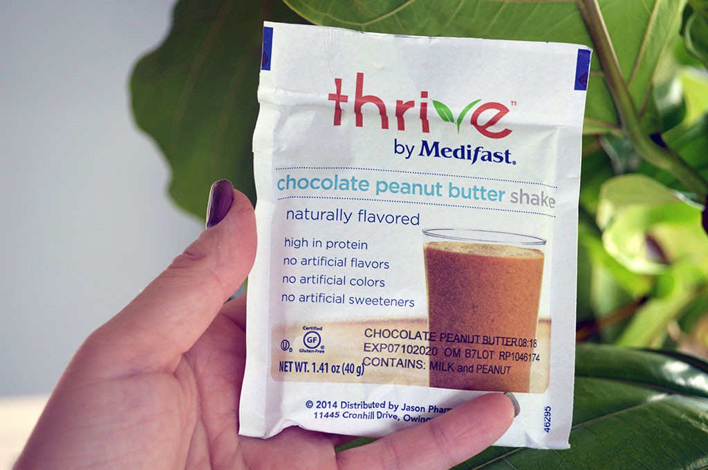 Thrive By Medifast Chocolate Peanut Butter Shake