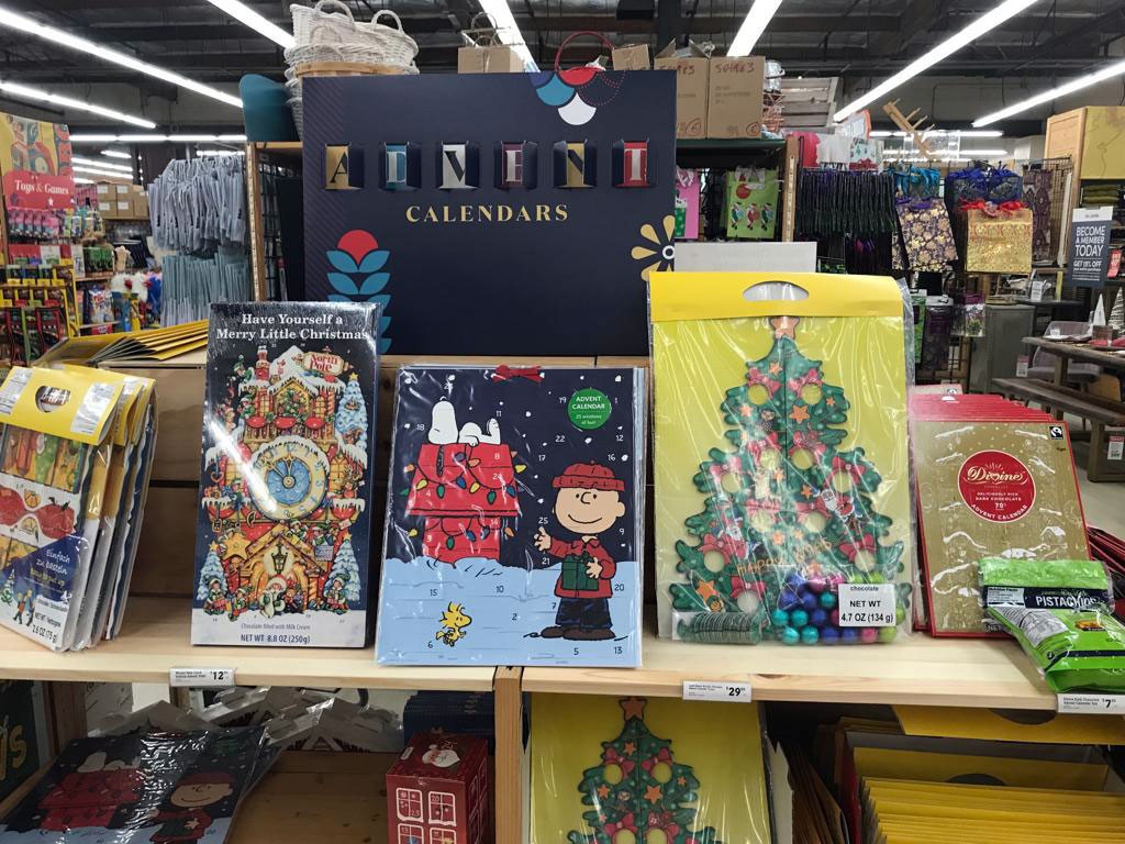 World Market holiday greeting cards and calendars